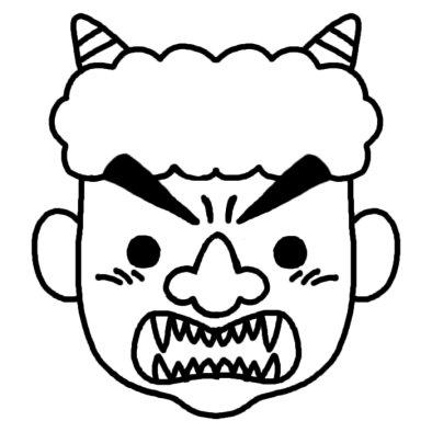 鬼2/節分/冬の季節・2月の行事 ... : 鬼 節分 お面 : すべての講義