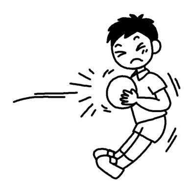 ドッジボール3/スポーツ(球技)/人物/無料【白黒イラスト素材】